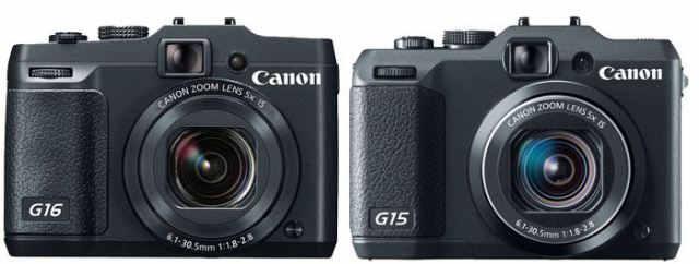 Canon G16 vs Canon G15