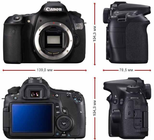 Размеры canon EOS 70D