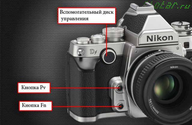 передняя панель nikon df