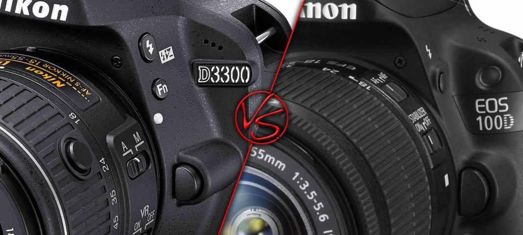 nikon d3300 vs canon 100d