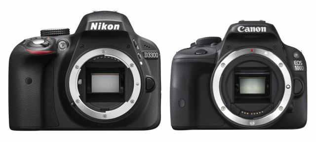 nikon d3300 vs canon EOS 100d