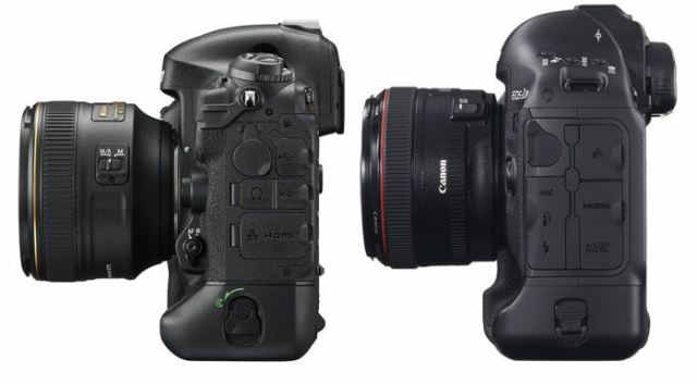 Nikon-D4s-vs-canon-1D-X-left