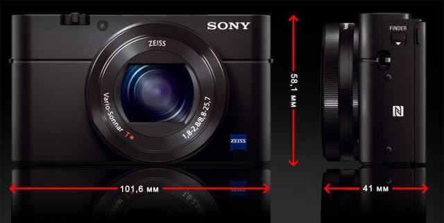 Sony DSC-RX100 III size