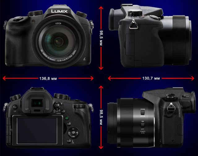 size Panasonic Lumix DMC-FZ1000