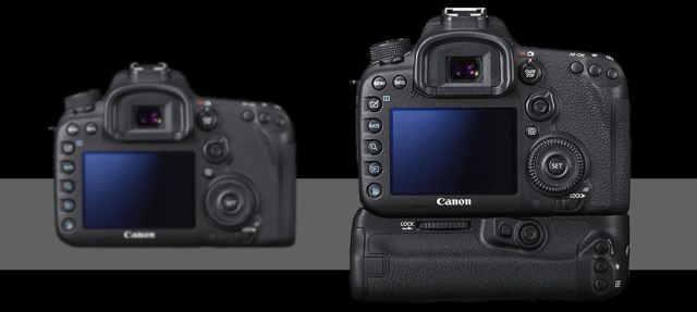 Canon EOS 7D mark ii back