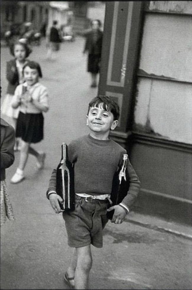 Улица Rue Mouffetard, Париж, 1952.