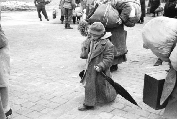 Ребенок, освобожденный из концлагеря, Дессау — Германия, 1945.