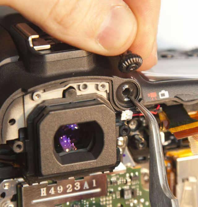 уплотнитель регулятора диоптрий Canon 7D Mark II
