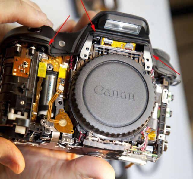 передняя панель Canon 7D Mark II