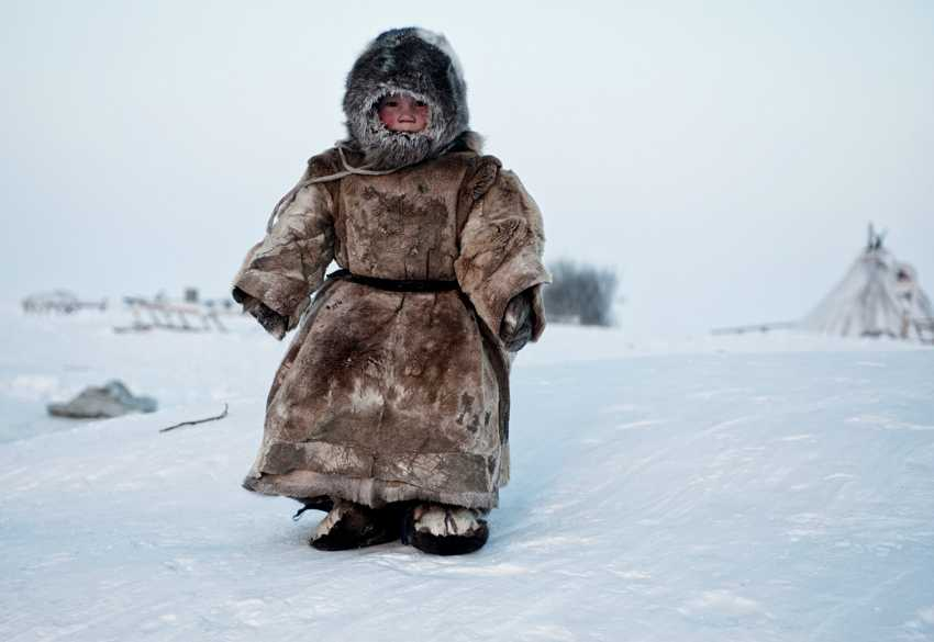 (c) Simon Morris, UK, Entry, Open Compeition, 2015 Sony World Photography Awards 'On the Tundra....' by Simon Morris A Young Nenets boy plays in -40 degrees on Yamal in the Winter in Siberia.