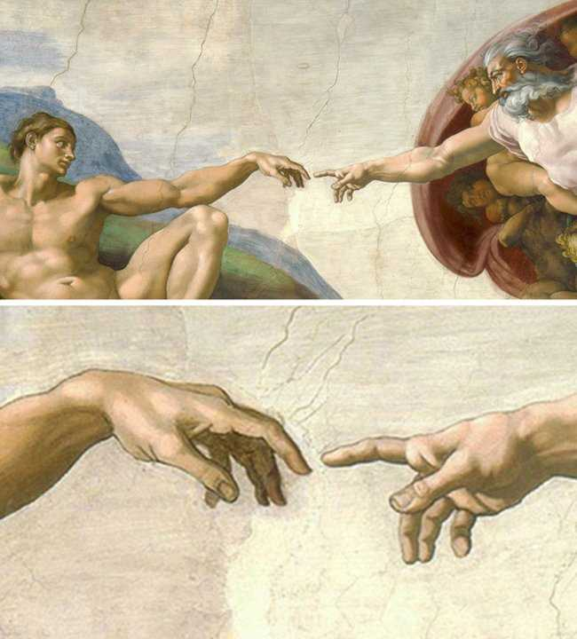 the features of the works by michelangelo