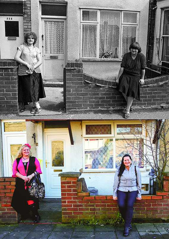 "Picture supplied by Chris Porsz/Bav Media 07976 880732. (Geoff Robinson Photography) Picture shows Star Road – Original pic 1982/ Sisters Maria (left) and Annamarie (right) Plavecz were photographed in Star Road in Peterborough in 1982. The siblings, who have a Hungarian father, both now work as carers. An amateur photographer has amazingly tracked down people he snapped on the streets of his hometown 40 YEARS ago and painstakingly recreated more than 130 PICTURES in a remarkable new book. Paramedic Chris Porsz spent hours walking around the city of Peterborough, Cambridgeshire in the late 1970s and 80s, taking candid shots - without his subjects knowing and without recording their names or phone numbers. Three decades later, Chris, known as the ""paramedic paparazzo,"" decided it would be fun to reconstruct a handful of his favourite photos from the past. Incredibly some of his long-lost subjects recognised themselves after he published their pictures in local and national papers, on his website and on Facebook. The reconstructions were such a success he was determined to do more and has spent the last SEVEN YEARS tracking down the people in his pictures and persuading them to pose once again. His hard work paid off and he has now published his photos in new book ""Reunions,"" which comes out tomorrow (Fri Nov 4). SS COPY CATCHLINE Photos recreated after 40 YEARS"
