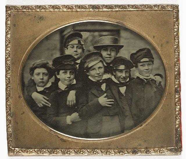 Ambrotype-of-a-group-of-children-c.-1860