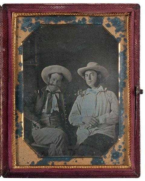 Daguerreotype-of-two-American-officers-during-the-Mexican-American-War-Veracruz-Mexico-1847