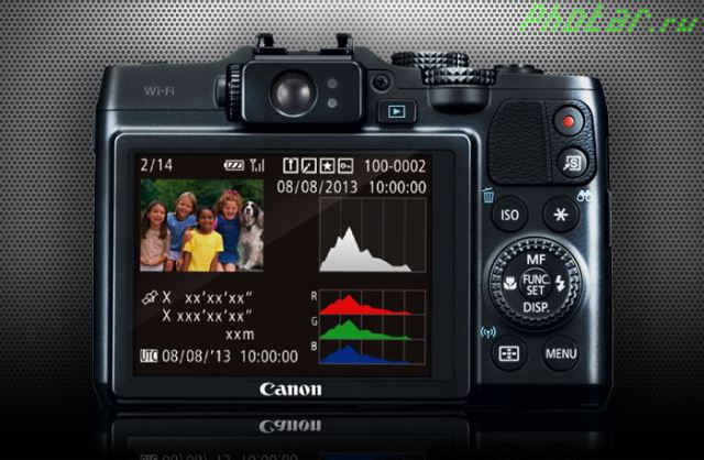 режимы просмотра фотоаппарата canon g16
