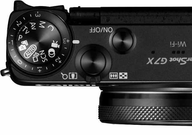Canon PowerShot G7 X top