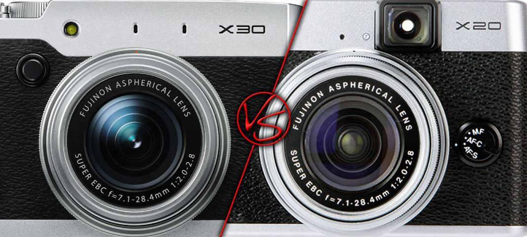 Fujifilm X30 vs Fujifilm X20
