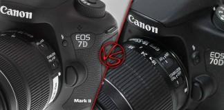 Сравнение: Canon EOS 7D Mark II vs Canon EOS 70D