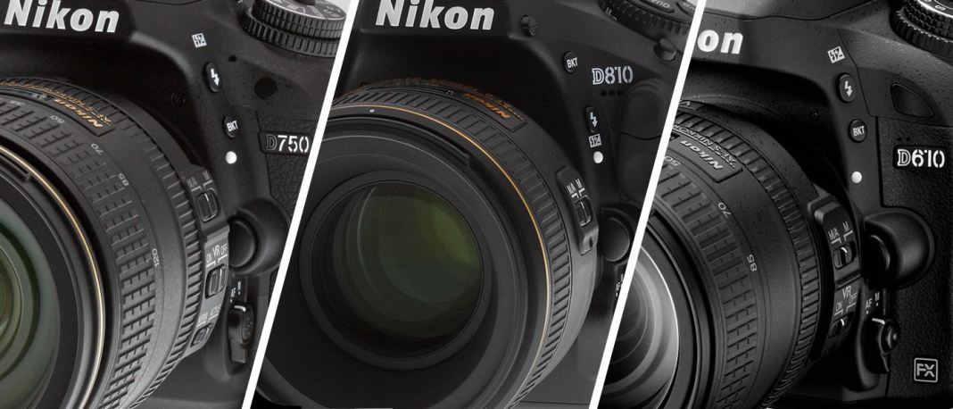 Nikon D750 vs Nikon D810 vs Nikon D610
