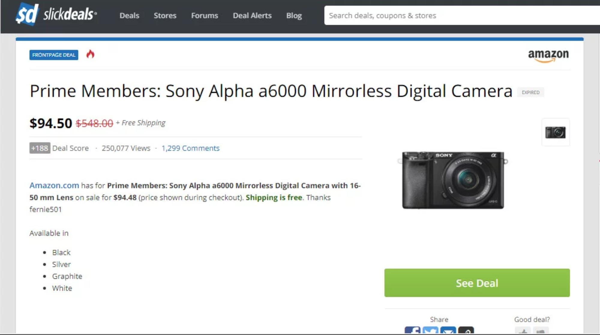 Из-за ошибки Amazon пользователи купили камеры со скидкой в 95%