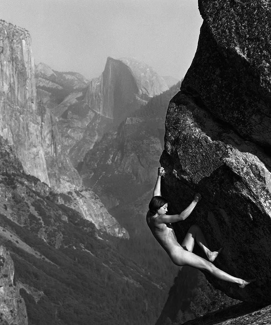 Naked mountain poster illusion